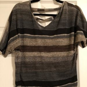 🎉5 for $15🎉 Blue and Brown Striped Vanity Shirt